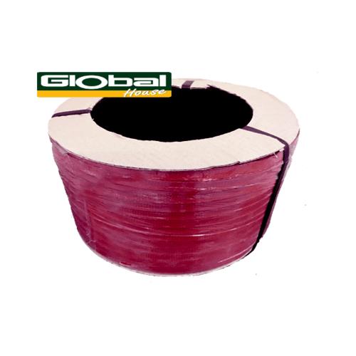 Global house สายรัดพลาสติก PP (7กิโลกรัม/ม้วน)  -   สีแดง