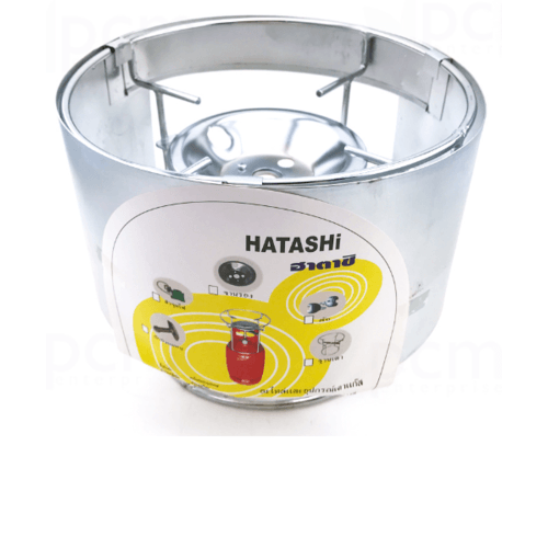 HATASHI ฐานเตาแก๊สปิคนิคพร้อมที่บังลม H-2 สเตนเลส