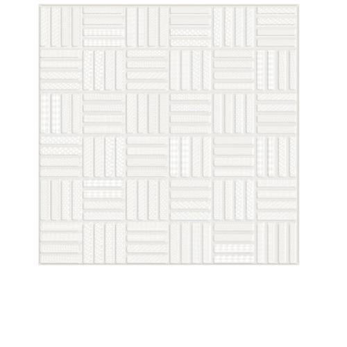 Sosuco 12X12 เหล็กนำศิลป์ ขาว A. Floor Tiles