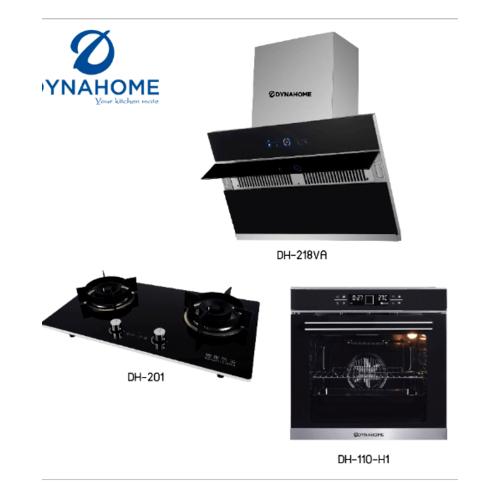 Dyna Home ชุดเซ็ทเครี่องดูดควันบวกเตาแก๊สบวกเตาอบ DH218VA+DH201+DH109-G1 สีดำ