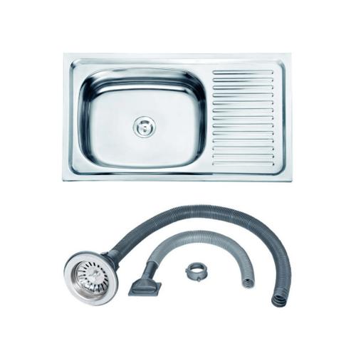 Dyna Home อ่างล้างจานแบบฝัง 1 หลุมมีที่พัก DH-7545CB
