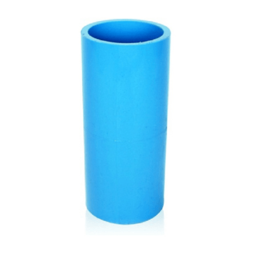 Number One ข้อต่อตรง 3/4 นิ้ว หนา (แพ็ค 10) สีฟ้า