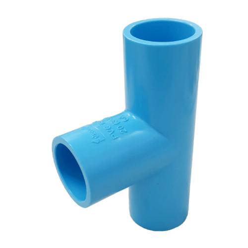 Number One ข้อต่อสามทาง 90° 3/4 นิ้ว  หนา สีฟ้า