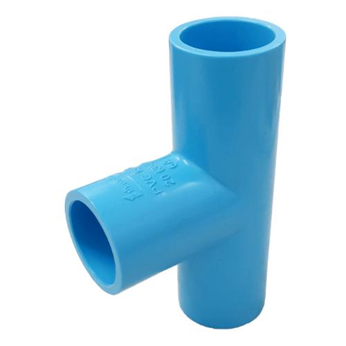 Number One ข้อต่อสามทาง 90° 1นิ้ว หนา สีฟ้า
