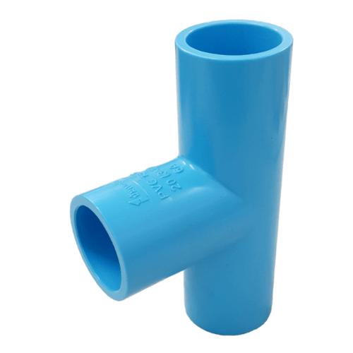Number One ข้อต่อสามทาง 90° 3/4 นิ้ว  (แพ็ค 5) หนา สีฟ้า