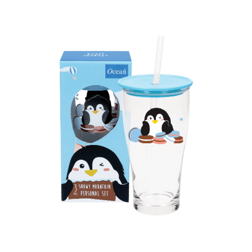 Ocean ชุดแก้วเดียวสโนวี่ สีฟ้า (3ชิ้น) Snowy Bule Set (3 pcs)