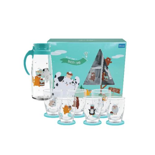 Ocean ชุดแฟมิลี่ เบเกอรี่ สีเขียว (13ชิ้น) Bakery Family  Green Set (13 Pcs)