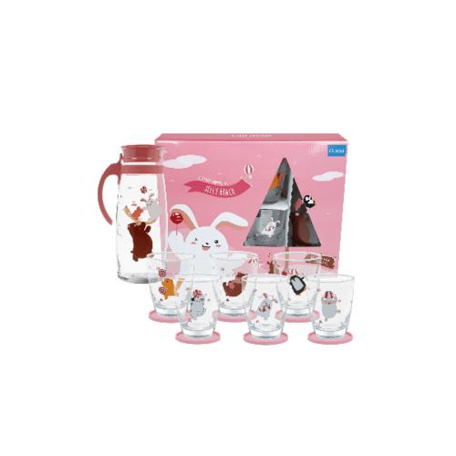 Ocean ชุดแฟมิลี่ เจลลี่ บีช สีชมพู (13ชิ้น) Jelly Family  Pink Set (13 Pcs)