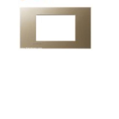 SIEMENS หน้ากาก 3 ช่อง  (Champagne) สีทอง