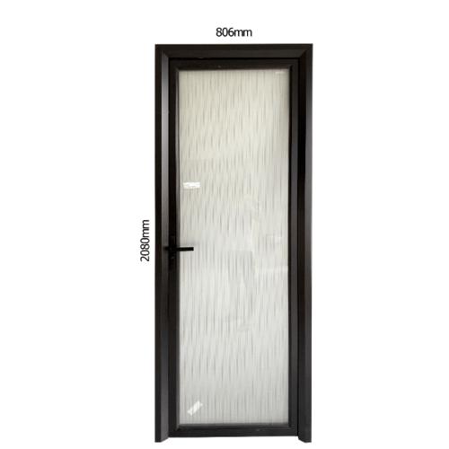 WELLINGTAN ชุดประตูอลูมิเนียม ลายดำน้ำตาลหน้าขาว (เปิดซ้าย) ขนาด 80.6x208ซม.  ALD-BK009L สีดำ