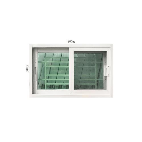 Wellingtan หน้าต่างอะลูมิเนียมบานเลื่อน SS ขนาด 80x50ซม. พร้อมเหล็กดัด  C5080BT สีขาว