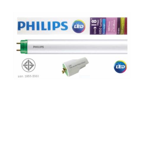 PHILIPS หลอดนีออนแอลอีดี อีโคฟิต รุ่นขั้วเขียว 10 วัตต์ 600มิล คูลเดย์ไลท์ T8 ขั้วเขียว 10 วัตต์ 600มิล คูลเดย์ไลท์ T8 สีขาว