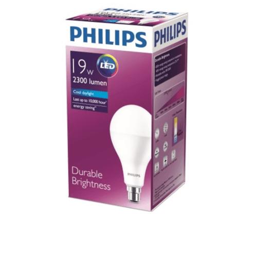 PHILIPS หลอดแอลอีดี บัลบ์ 19 วัตต์  E27 6500K A80 1CT/6AU สีขาว
