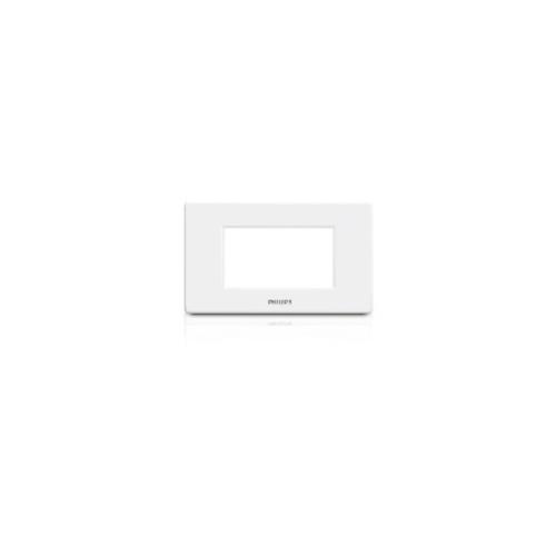 PHILIPS หน้ากาก 3 ช่อง ไม่เว้นระยะ LeafStyle Cover 3M + Grid สีขาว