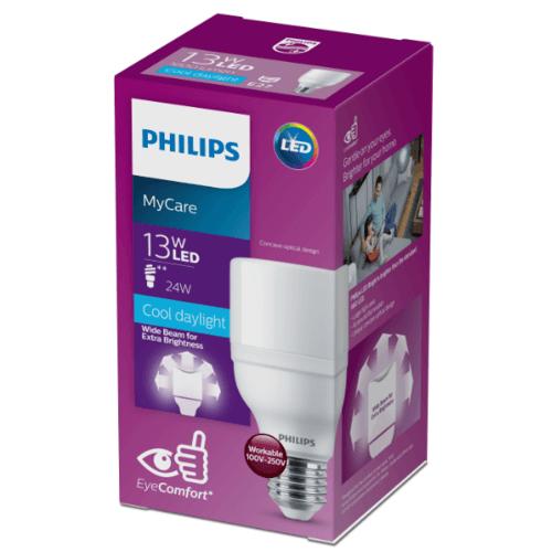 PHILIPS หลอดแอลอีดีไบร์ท  13W E27 6500K 230V 1CT/12 APR
