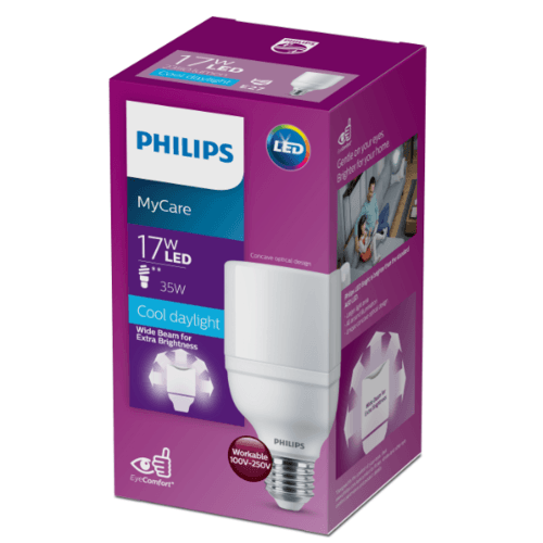 PHILIPS หลอดแอลอีดีไบร์ท  17W E27 6500K 230V 1CT/12 APR