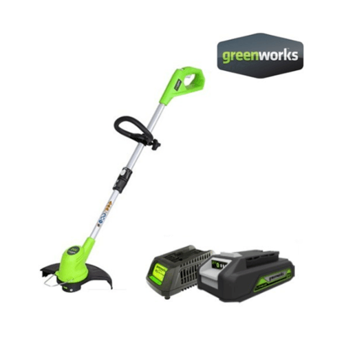 GREENWORKS เครื่องตัดหญ้า 24 V พร้อมแบตเตอรี่และแท่นชาร์จ  สีเขียว GWS0001