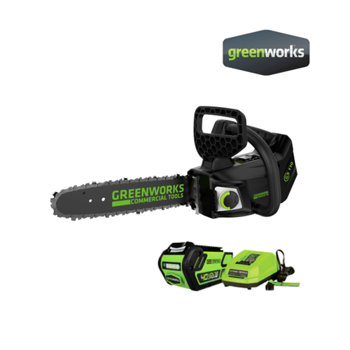 GREENWORKS เลื่อยโซ่ 40V Top Handle พร้อมแบตเตอรี่และแท่นชาร์จ GWS0016