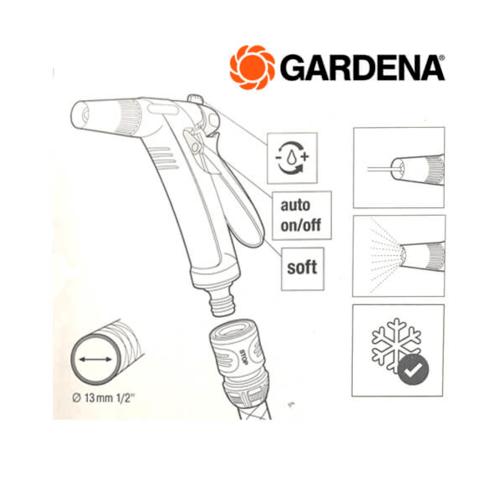 GARDENA ชุดหัวฉีดน้ำพร้อมข้อต่อ 18341-32