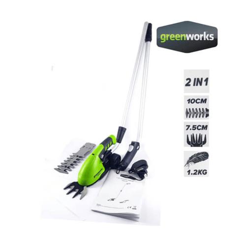 GREENWKS เครื่องเล็มหญ้าและเล็มพุ่มไม้  7.2 V สีเขียว