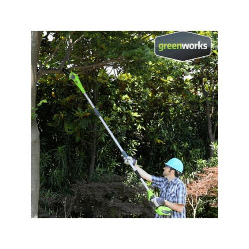 GREENWORKS เครื่องตัดกิ่งไม้สูงไร้สาย  ขนาด 40V (เฉพาะตัวเครื่อง) สีเขียว
