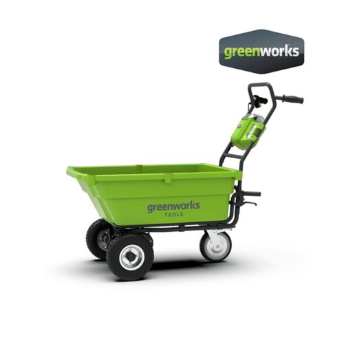 GREENWORKS  รถเข็นของแบตเตอรี่  ขนาด 40V (ไม่รวมแบตเตอรี่) สีเขียว