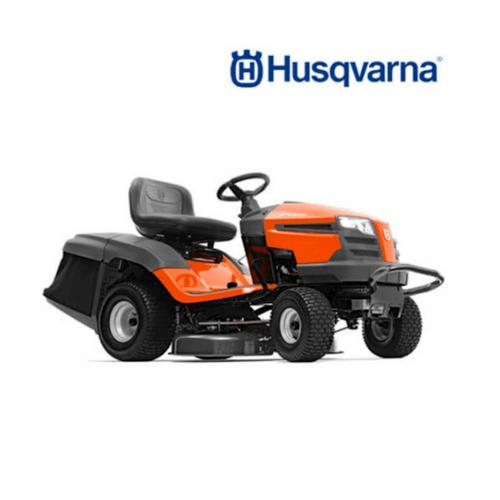 HUSQVARNA  รถตัดหญ้านั่งขับ  TC238 เครื่อง 20 แรงม้า(เกียร์ออโต้) สีส้มดำ