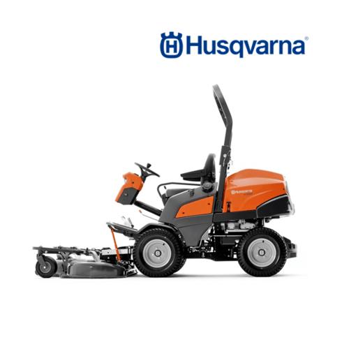 HUSQVARNA  รถตัดหญ้านั่งขับแผ่นใบตัดอยู่ด้านหน้า  P525D สีส้มดำ