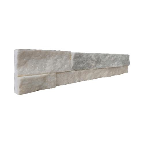 หินธรรมชาติ 7x30 หินกาบจิ๊กซอขาวประกาย   NSD-GSE-004-0730