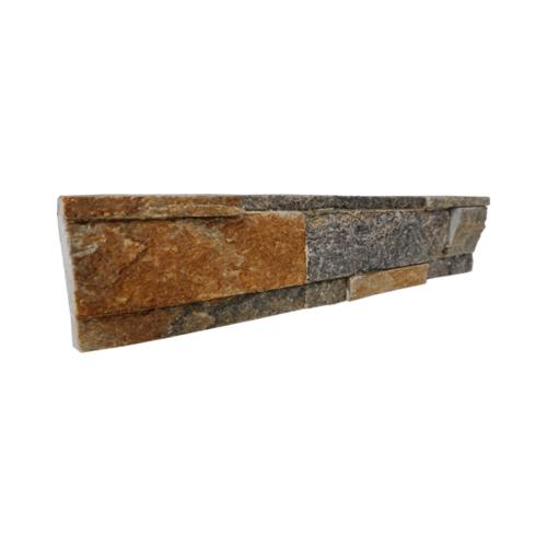 หินธรรมชาติ 7x30 หินกาบจิ๊กซอส้มประกาย   NSD-GSE-016-0730