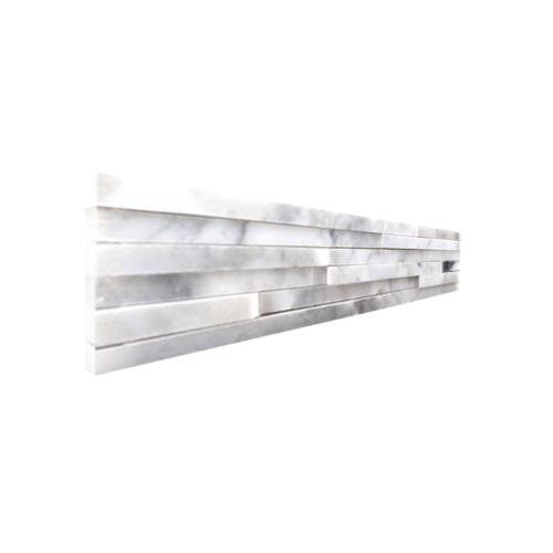 หินธรรมชาติ หินอ่อนจิ๊กซอ ขาวเทาสระบุรี  NSD-MOB-001-1059