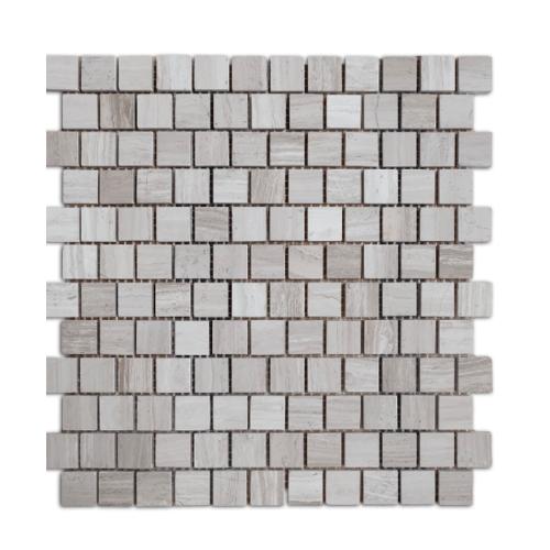 หินธรรมชาติ 30x30 โมเสคหินอ่อนเทาลายไม้ ผิวขัดมัน   NSD-NMG-019