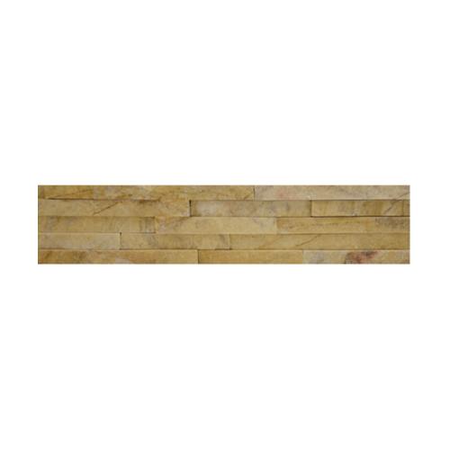 หินธรรมชาติ 6x30 สันหินกาบน้ำตก สีเหลือง   NSD-GSD-006-1030