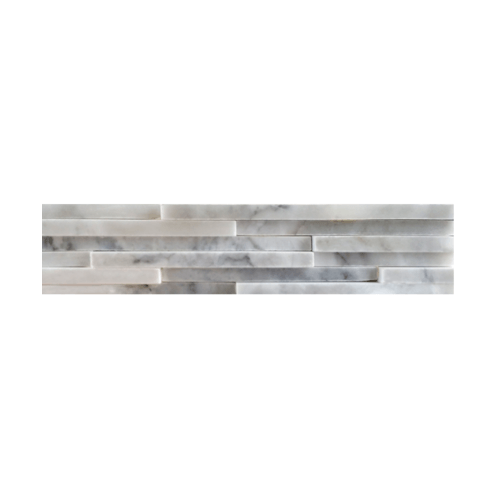 หินธรรมชาติ 6x30 หินอ่อนจิ๊กซอ ขาวเทาสระบุรี   NSD-MOA-001-0630