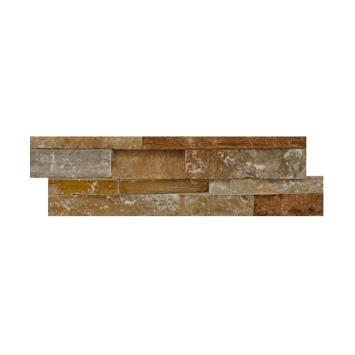 หินธรรมชาติ 15x60 หินกาบจิ๊กซอส้มเปลือกไม้  NSD-GSE-006-1560