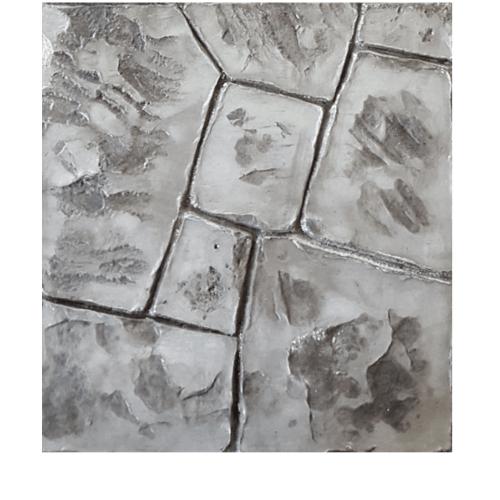 CONTEXTURE คอนกรีตพิมพ์ลาย   ขนาด40x40x3.4ซม. Stone 02 สีเทาดำ