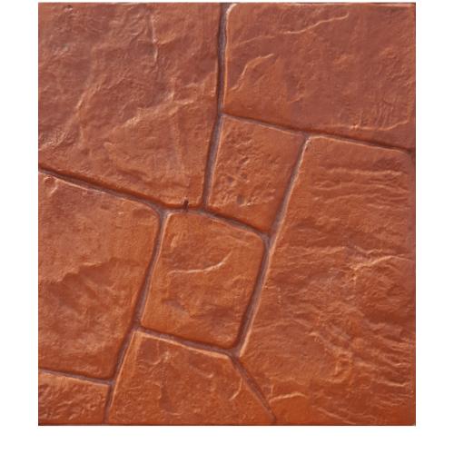 CONTEXTURE  คอนกรีตพิมพ์ลาย   ขนาด40x40x3.4ซม. Stone 03 สีส้ม