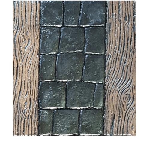 CONTEXTURE คอนกรีตพิมพ์ลาย   ขนาด30x30x3.2ซม. Wood 001 สีดำ