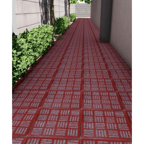 CONTEXTURE  หินล้างแกะลาย  จักสาน 001ขนาด 30x30x3.2ซม.  สีแดง