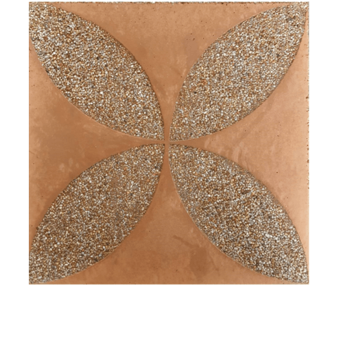 CONTEXTURE หินล้างแกะลาย   ดอกรัก 004 ขนาด30x30x3.2ซม. สีน้ำตาลอ่อน