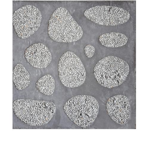 CONTEXTURE หินล้างแกะลาย ขนาด30x30x3.2ซม. หินกรวด 003  สีเทา