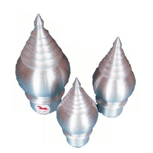 SC หัวเสาธงอลูมิเนียมทรงฉัตร5ชั้น-สวม2.1/2นิ้ว  flag pole head(wearl) 2.1/2 สีขาว