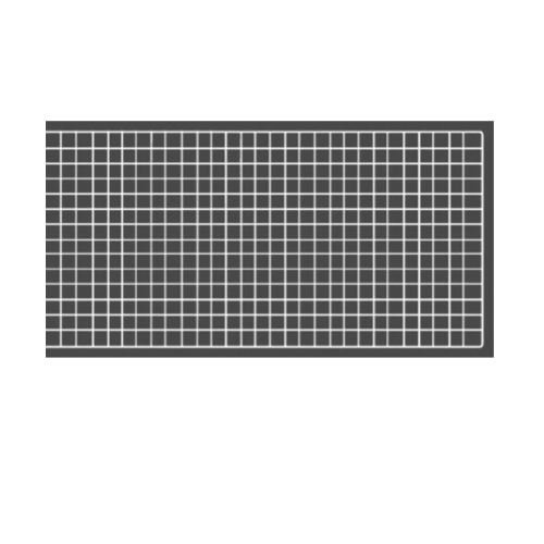 Delicato  ตะแกรงชุบ ขนาด  60x120x1ซม. สีขาว