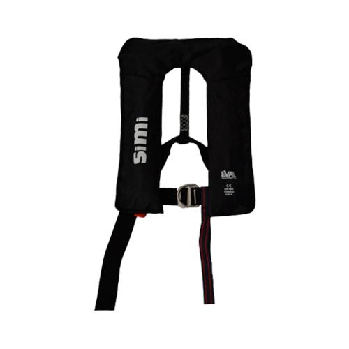 EVAL เสื้อชูชีพแบบพองลม Autoหัวเข็มขัดโลหะ (D-RING) 04326-4BLACK  สีดำ