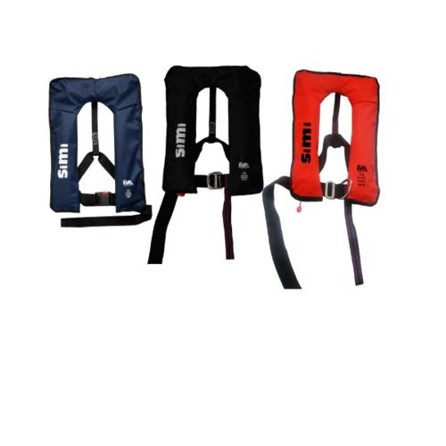 EVAL เสื้อชูชีพแบบพองลม ระบบ Manual สีแดง Buckle Plastic  04326-5 สีแดง