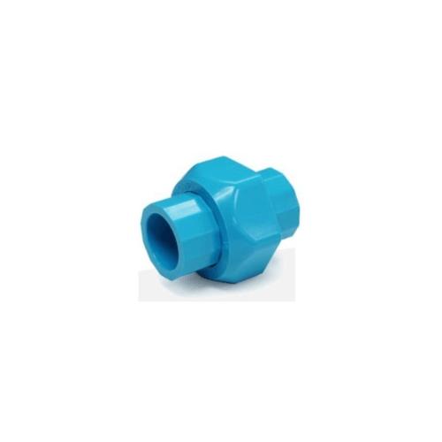 SCG ข้อต่อยูเนี่ยนสวมท่อ-หนา ขนาด  1/2 นิ้ว สีฟ้า