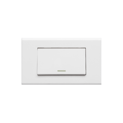 Gentec สวิชต์ต์ทางเดียวใหญ่ 1 ช่อง 120W-03 สีขาว