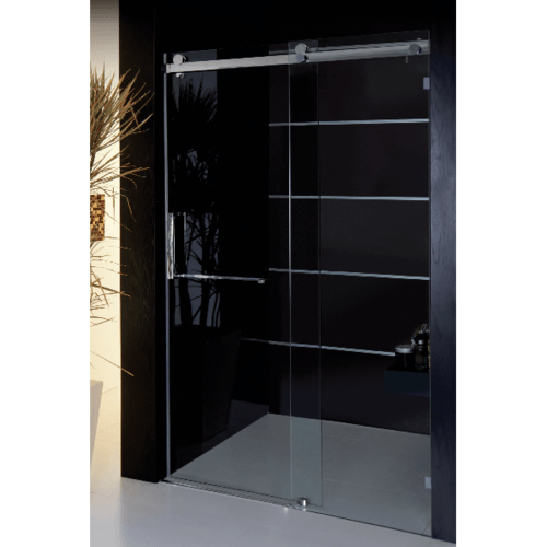 I-SPA ตู้อาบน้ำบานเลื่อนกระจกนิรภัย หนา 10 มม. ขนาดกว้าง 120 ซม. สูง 200 ซม.  ROLLER120