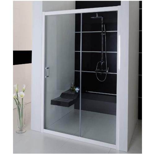 I-SPA  ฉากกั้นอาบน้ำบานเลื่อน กระจกนิรภัยหนา 6 มิล ขนาด 120x185 ซม.เฟรมสีเงิน SVELTE120