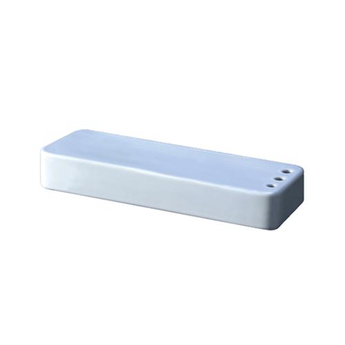 I-SPA ชั้นวางเซรามิค ติดผนัง พร้อมที่ใส่แปรงสีฟัน12X30X6CM  I-BOX SHELF2 สีขาว